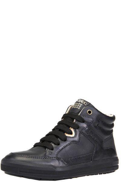 Ботинки, Geox, Черный, Искуственная кожа+кожа-100%, Женский  - купить со скидкой
