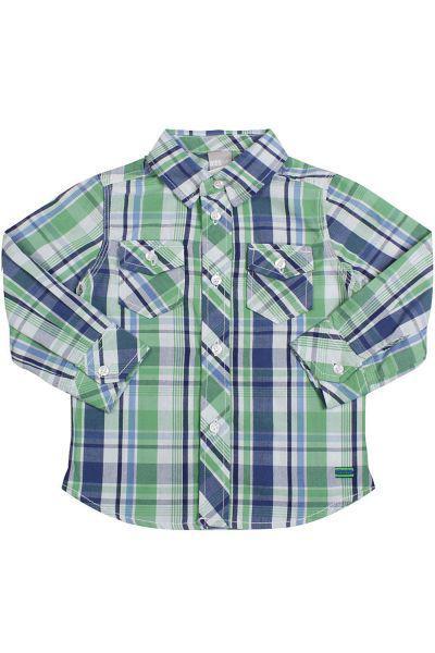 Купить Рубашка, Trybiritaly, Зеленый, Хлопок-100%, Мужской