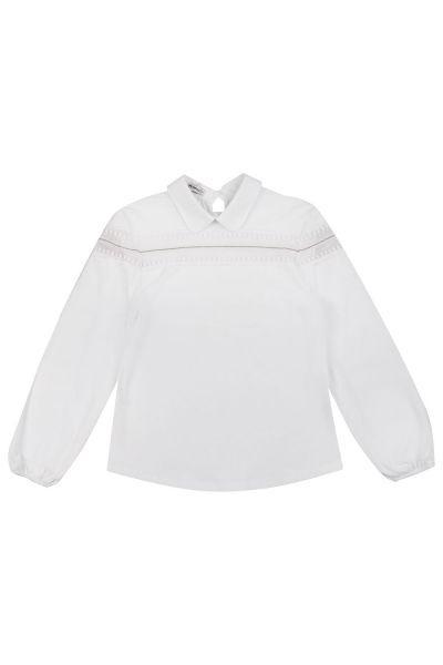 Купить Блуза, Noble People, Белый, Хлопок-95%, Эластан-5%, Женский