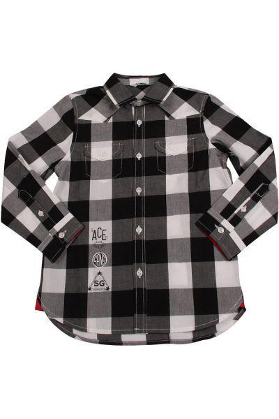 Купить Рубашка, Street Gang, Серый, Хлопок-100%, Мужской