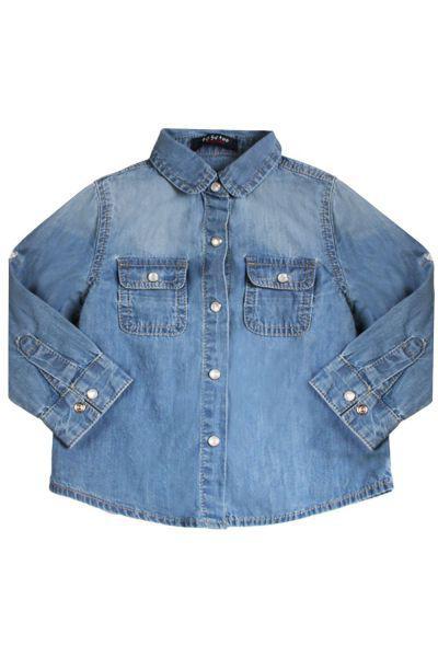 Купить Рубашка, To Be Too, Голубой, Хлопок-100%, Женский
