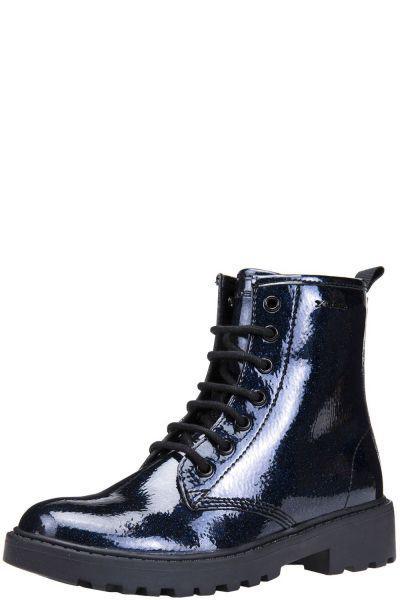 Купить Ботинки, Geox, Синий, Искусственная кожа-100%, Женский