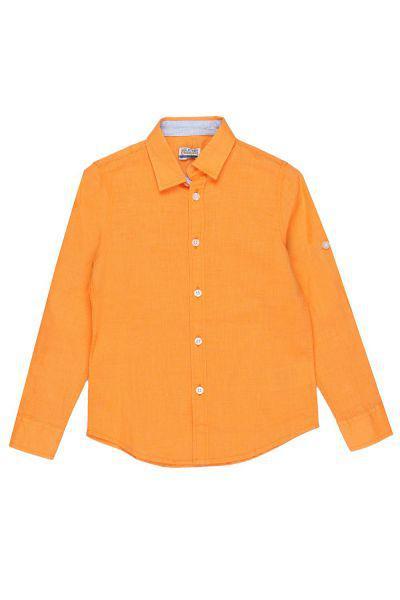Купить Рубашка, Y-clu', Оранжевый, Хлопок-100%, Мужской