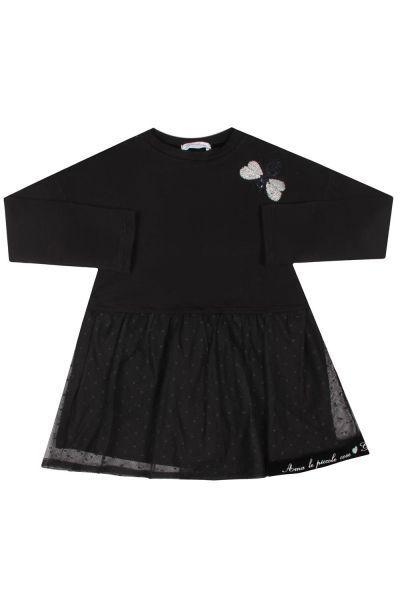 Купить Платье, Gaialuna, Черный, Полиэстер-65%, Хлопок-35%, Женский