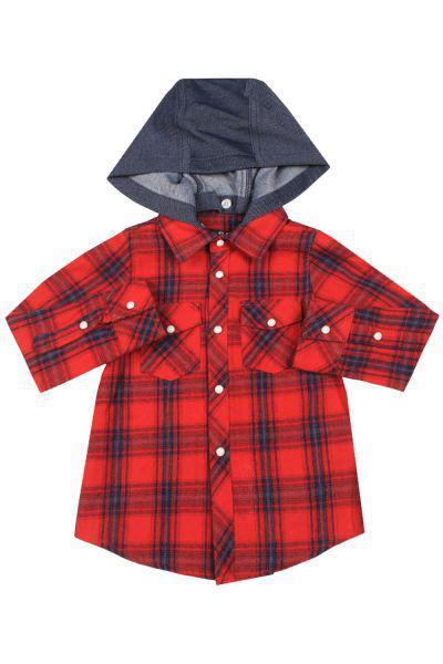 Купить Рубашка, Street Gang, Красный, Хлопок-100%, Мужской