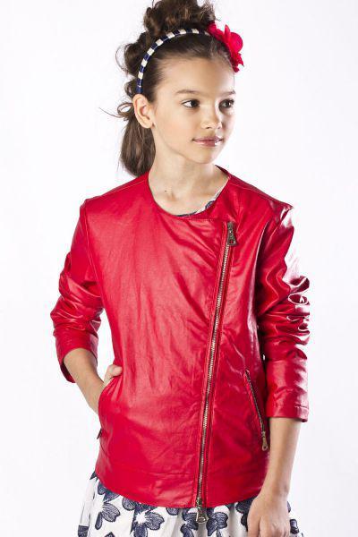 Купить Куртка, To Be Too, Красный, Полиуретан-100%, Женский