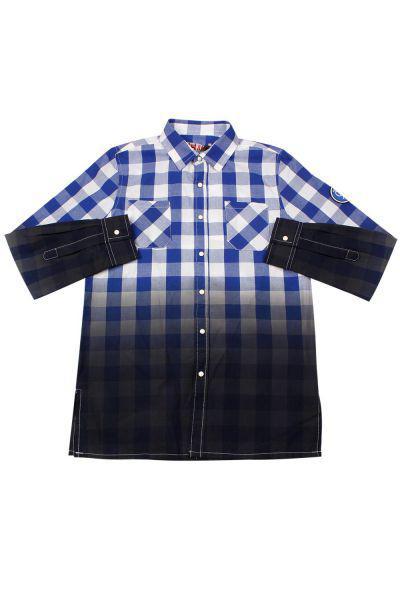 Купить Рубашка, Y-clu', Синий, Хлопок-100%, Мужской