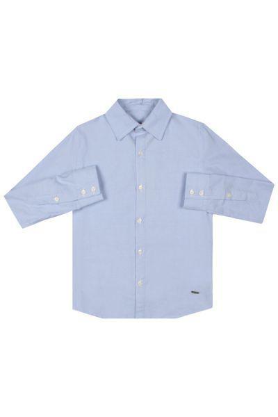 Купить Рубашка, Gaudi, Голубой, Хлопок-97%, Эластан-3%, Мужской