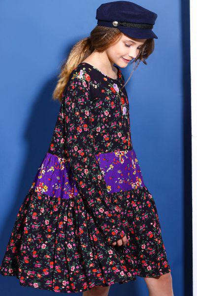 Купить Платье, Gaialuna, Разноцветный, Вискоза-100%, Женский
