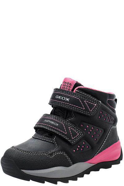 Купить Ботинки, Geox, Черный, Искуственная кожа+текстиль-100%, Женский