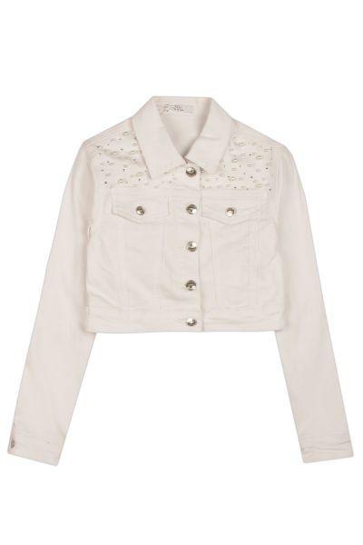 Куртка, Y-clu', Белый, Полиуретан-100%, Женский  - купить со скидкой