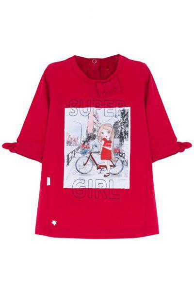 Купить Платье, Beba Kids, Красный, Хлопок-95%, Эластан-5%, Женский